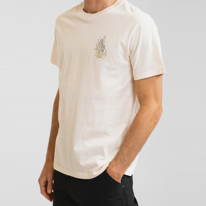 Camiseta Rhythm: Aloha Tiger Tee (Vintage white)