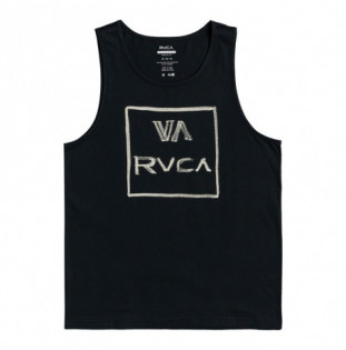 Camiseta RVCA: Dry Brush Tank (Pirate Black) RVCA - 1
