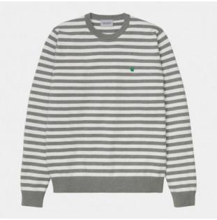 Jersey Carhartt: Scotty Sweater (Sct Stripe Grey Hea Wax) Carhartt - 1