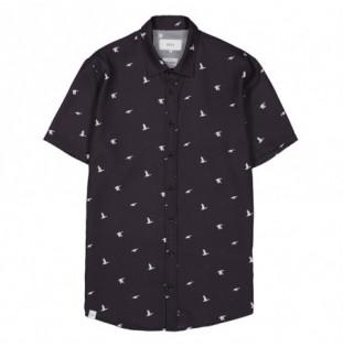 Camisa Makia: Ana SS Shirt (Dark Blue) Makia - 1