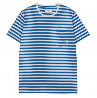 Camiseta Makia: Verkstad TShirt (Blue-White) Makia - 1