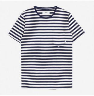 Camiseta Makia: Verkstad TShirt (Navy-White) Makia - 1