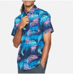 Camisa Hurley: M Org Redondo SS (Obsidian) Hurley - 1