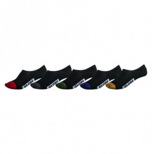 Calcetines Globe: Dip Invisible Sock 5 Pack 7 a 11 (Assort) Globe - 1
