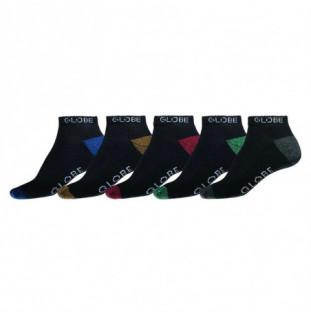 Calcetines Globe: Ingles Ankle Sock 5 Pack 7 a 11 (Assorted) Globe - 1