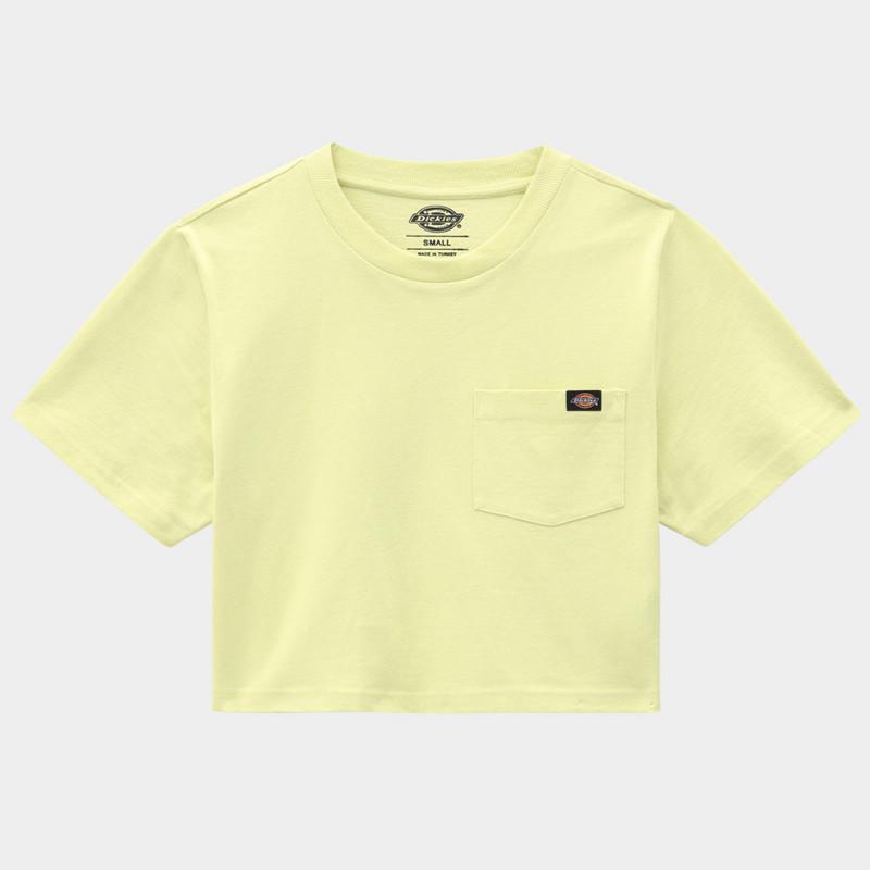 Camiseta Dickies: SS Porterdale Crop W (Mellow Green)