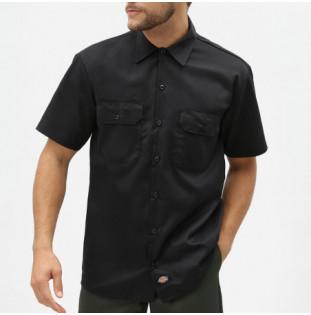 Camisa Dickies: Short Sleeve Work Shirt (Black) Dickies - 1