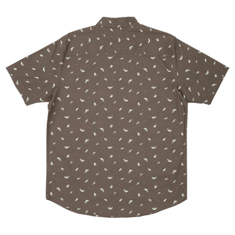 Camisa Salty Crew: Bay Bass Woven (Asphalt)