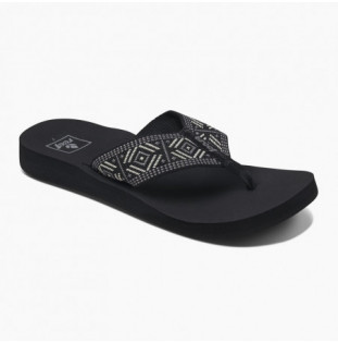 Chanclas Reef: W Reef Spring Woven (Black White) Reef - 1