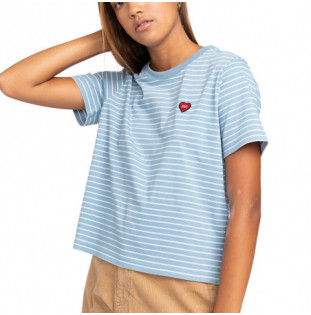 Camiseta Element: Paula SS Cr (Faded Denim) Element - 1
