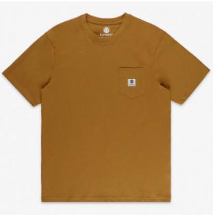 Camiseta Element: Basic Pocket Label S (Gold Brown)