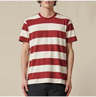Camiseta Globe: Dion Agius Striped Tee (Ox Blood) Globe - 1