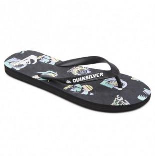 Chanclas Quiksilver: Molokai Island PuLSe (Black Grey Black) Quiksilver - 1