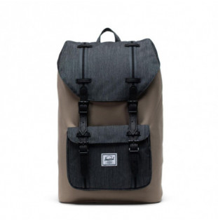 Mochila Herschel: Herschel Little America Mid-Volume (Timberwolf/Black Denim/Black)