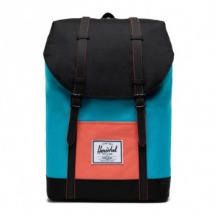 Mochila Herschel: Retreat (Blue Bird/Black/Emberglow)