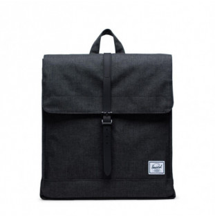Mochila Herschel: City Mid-Volume (Black Crosshatch/Black)