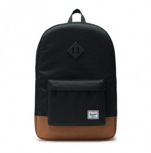 Mochila Herschel: Heritage (Black/Saddle Brown)