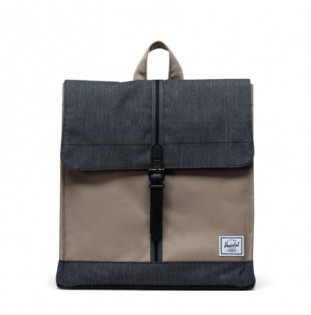 Mochila Herschel: City Mid-Volume (Timberwolf/Black Denim)