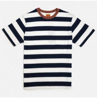 Camiseta Rhythm: Everyday Stripe Tee (Navy)
