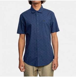 Camisa RVCA: Carlo Dot SS (Moody Blue) RVCA - 1