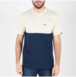 Camiseta Vans: Mn Colorblock Tee (Dress Blues Seed Pearl) Vans - 1