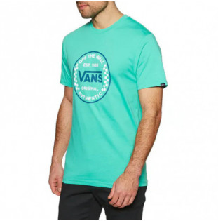 Camiseta Vans: Mn Authentic Checker SS (Waterfall) Vans - 1