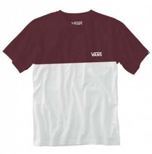 Camiseta Vans: Mn Colorblock Tee (White Port Royale) Vans - 1