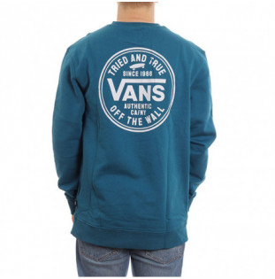 Sudadera Vans: Mn Tried And True Crew (Moroccan Blue)