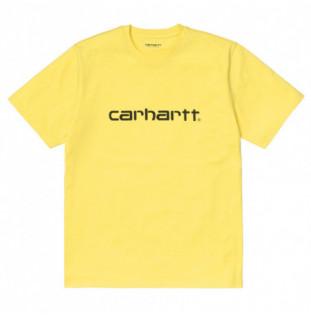 Camiseta Carhartt: SS Script TShirt (Limoncello Black) Carhartt - 1