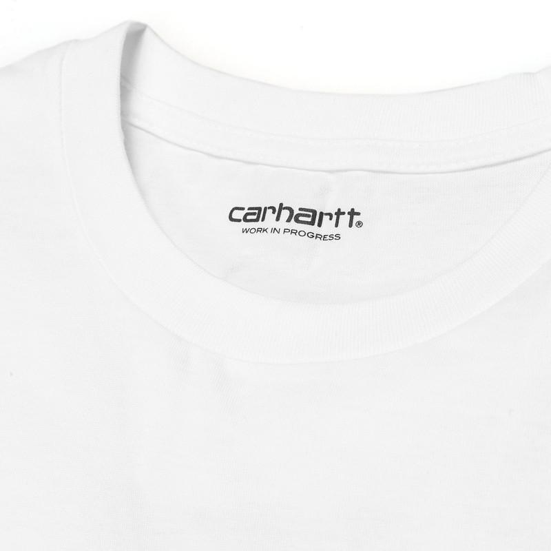 Camiseta Carhartt: SS Script TShirt (White Black)