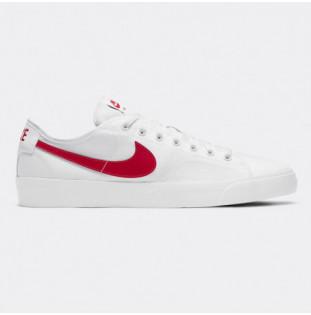 Zapatillas Nike: Blazer Court (White Univ Red White Blk) Nike - 1