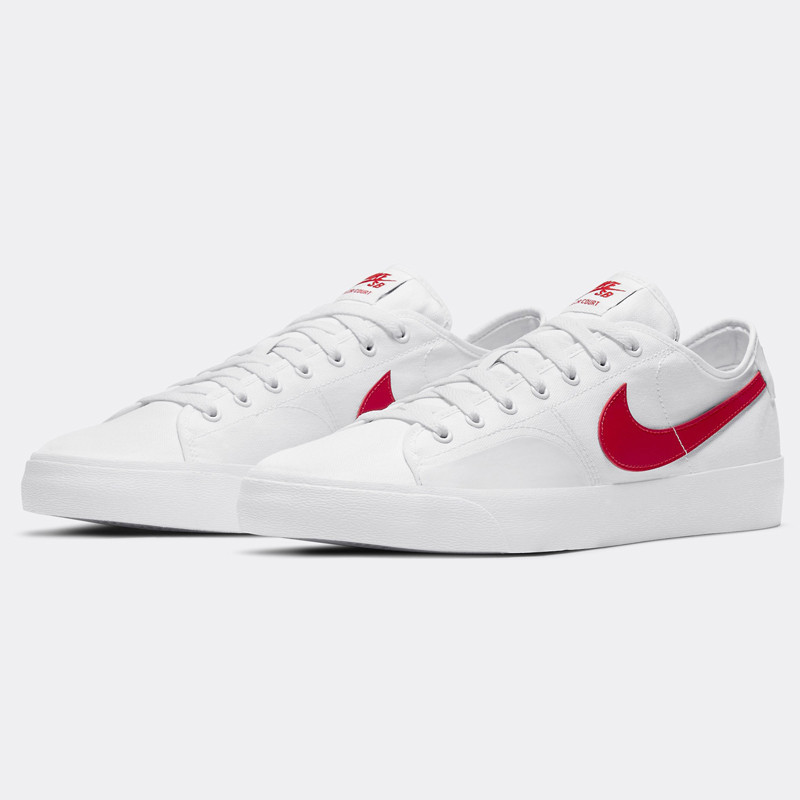 Zapatillas Nike: Blazer Court (White Univ Red White Blk)