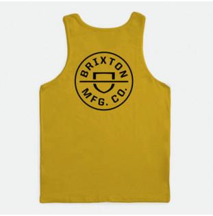 Camiseta Brixton: Crest Tank (Lemon Curry Cloud Wash) Brixton - 1