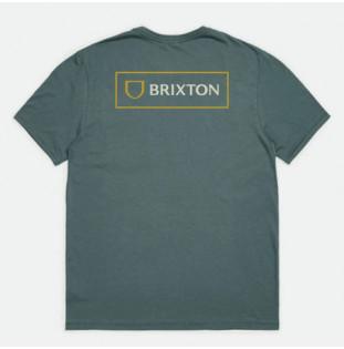 Camiseta Brixton: Alpha Block SS Tlrt (Silver Pine) Brixton - 1