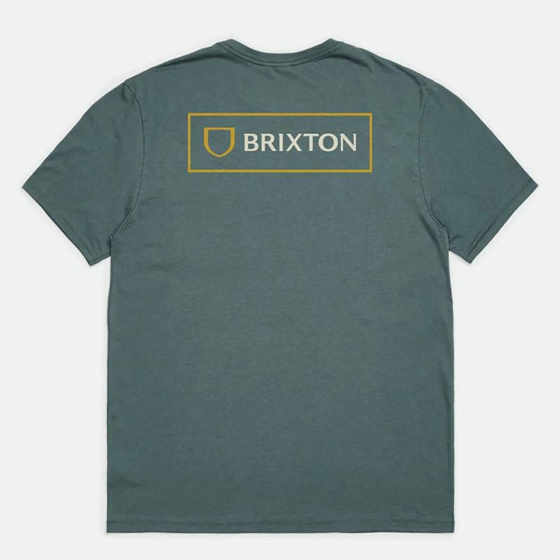 Camiseta Brixton: Alpha Block SS Tlrt (Silver Pine)