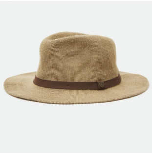 Gorro Brixton: Messer Knit Packable Fedora (Tan)