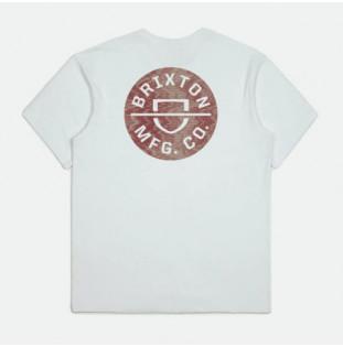 Camiseta Brixton: Crest II SS STT (White)