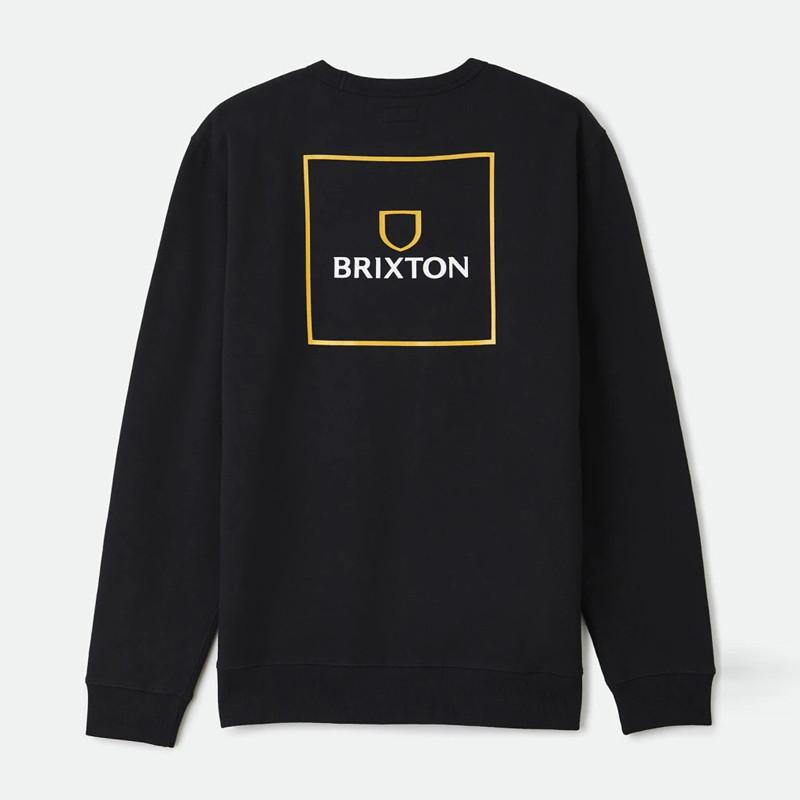 Sudadera Brixton: Alpha Square Crew (Black)