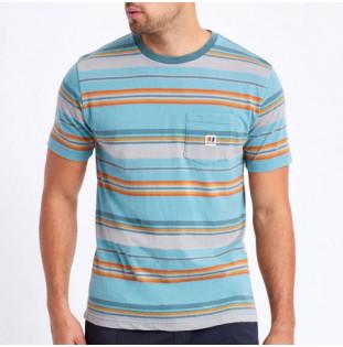 Camiseta Brixton: Hilt Alton SS Pkt Knit (Aqua Cloud Wash)