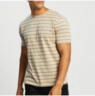 Camiseta Brixton: Hilt Shield SS Knit (Vanilla)