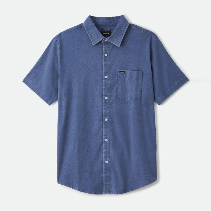 Camisa Brixton: Charter Oxford SS WVN (Joe Blue Sun Wash)
