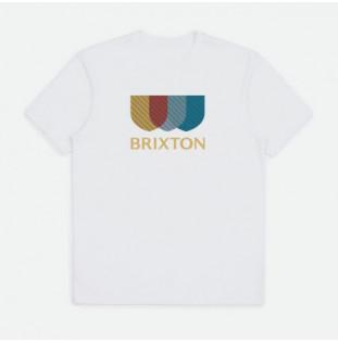 Camiseta Brixton: Alton Stripe SS STT (White)