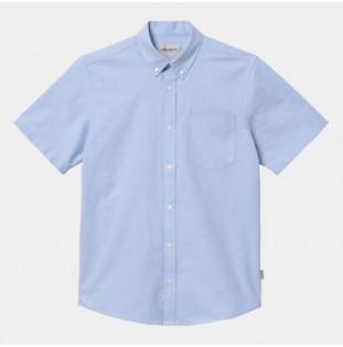 Camisa Carhartt: SS Button Down Pocket Shirt (Bleach)
