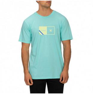 Camiseta Hurley: M Halfer Stripe SS (Aurora Green Htr) Hurley - 1