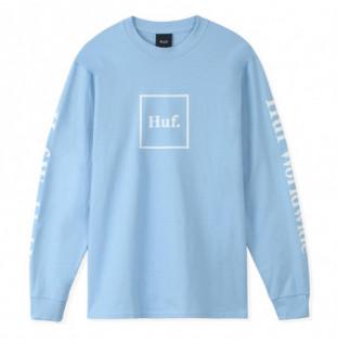 Camiseta HUF: Essentials Domestic Ls Tee (Light Blue) HUF - 1