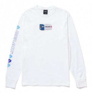 Camiseta HUF: Relax Ls Tee (White) HUF - 1