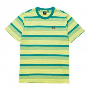 Camiseta HUF: Berkley Stripe SS Knit Top (Mint) HUF - 1