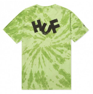 Camiseta HUF: Haze Brush Tie Dye SS Tee (Lime) HUF - 1