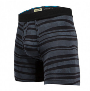 Boxer Stance: Drake Boxer Brief (Charcoal) Stance - 1