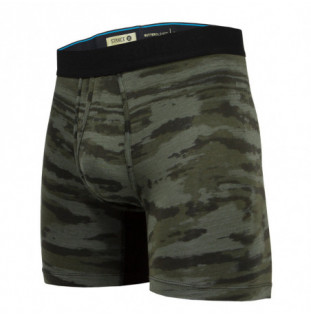 Boxer Stance: Ramp Camo Boxer Brief (Army Green) Stance - 1
